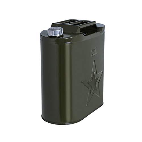 ZWB Metal Verde Bidón de Gasolina con Pico de 2.5 galones 5 galones Gas Puede de Gran Capacidad de Recambio for automóviles de Gasolina Bote Vertical (Color : 25L)