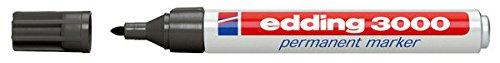 Permanentmarker edding® 3000, Rundspitze, Strichstärke 1,5-3mm, grau