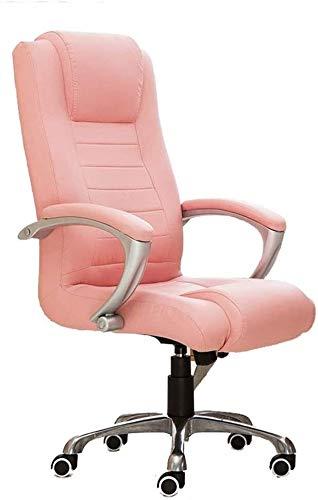 Shengluu - Silla de oficina reclinable para oficina o oficina, escritorio y silla con reposabrazos de piel suave y ergonómica (color: Beige) 2020 Amazon (color: negro, tamaño: como se muestra).