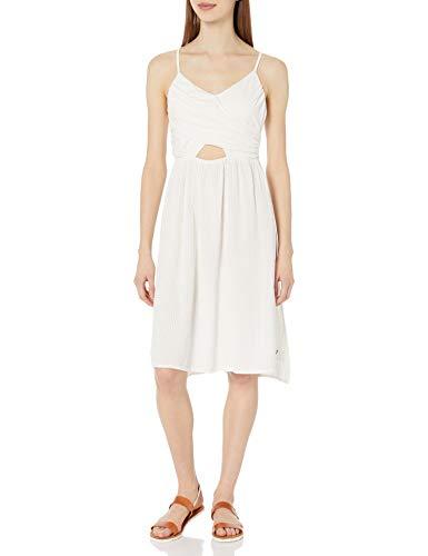 Roxy Women's Good Resolution Bodice Wrap Dress, Marshmallow, M