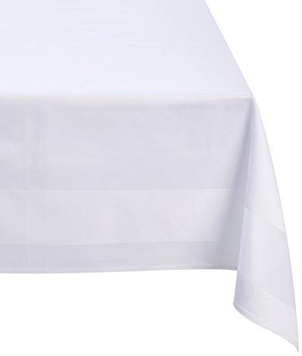 Fleuresse Damast-Tischdecke, weiß, 130 x 250 cm