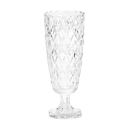 Vaso de Cristal com Pé Angélica Rojemac Transparente Cristal