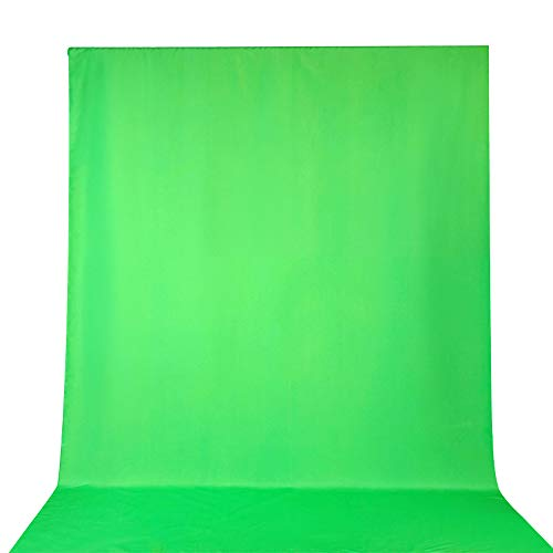 Ruili 10 x 19.6 ft/3 x 6 m Greenscreen Fotostudio Hintergrundstoff Green Screen 100% Reine Muslin Hintergrund Backdrop Photography