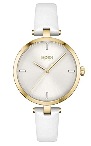 Hugo Boss Womens Analog Quartz Uhr mit Leder Armband 1502588