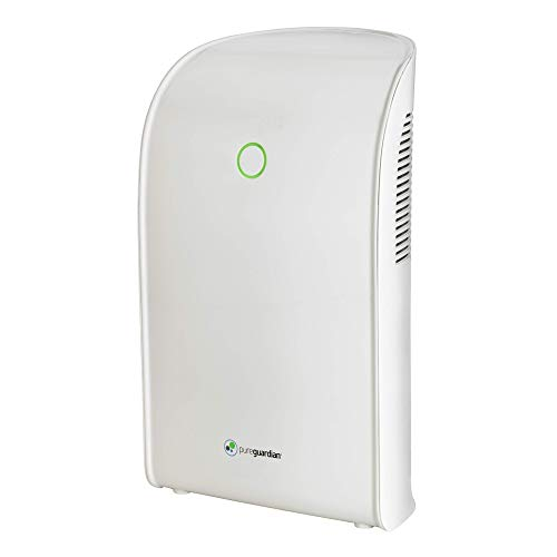 Guardian Technologies Pure Guardian DH201WCA Small Room Dehumidifier for Allergen & Odor Control In Closets, Kitchens, Laundry Rooms, & Bathrooms, Ultra-Quiet & Space-Saving, Pureguardian