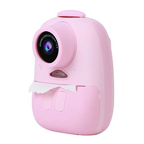 Eosnow Videocamera per Bambini, Fotocamera per Bambini Display da 2,0 Pollici per la Stampa di Carta Fotografica per la Registrazione di Video per Graffiti Fai da Te