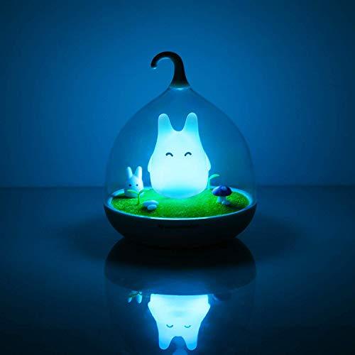 Mein Nachbar Nachtlicht für Kinder, Totoro Nachtlicht, wiederaufladbarer, intelligenter Berührungssensor, Dimmerlampe Tierlicht