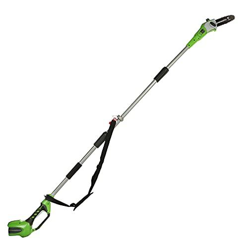 Greenworks Akku-Hochentaster G40PS20 (Li-Ion 40V 20cm Schwertlänge 8 m/s Kettengeschwindigkeit 3-teilige Aluminiumstange ohne Akku und Ladegerät)