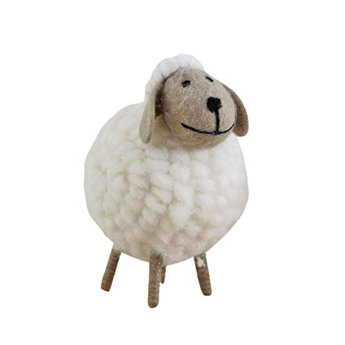 Christmas Tree Ornament Felt Sheep Hanging Decoration Decorative Xmas Figurines Holiday Party Supplies Favors