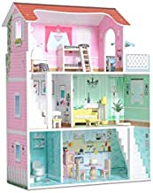 Milliard Doll House / 20 Furniture Pieces / Perfect Wooden Dollhouse for Kids