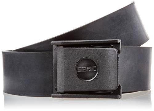 SEAC 0990006 Cinturón de Goma con Hebilla, Hombre, Negro, M/L