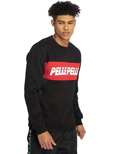 Pelle Pelle Männer Pullover Sayagata Cut Crewneck schwarz - XXL