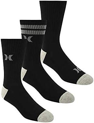 Hurley Men's 3Pk Mens Half Terry Crew Sock
