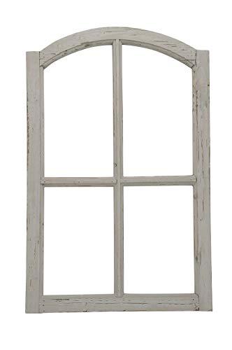 Posiwio Marco decorativo de madera para ventana, color gris, estilo vintage