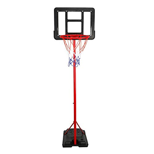 Basketbalstandaard voor kinderen Kinderen basketball Stand 1.85m Kan Til de Indoor Transparent Basketball Stand Buitenspeelgoed Balspellen (Color : Black, Size : One size)
