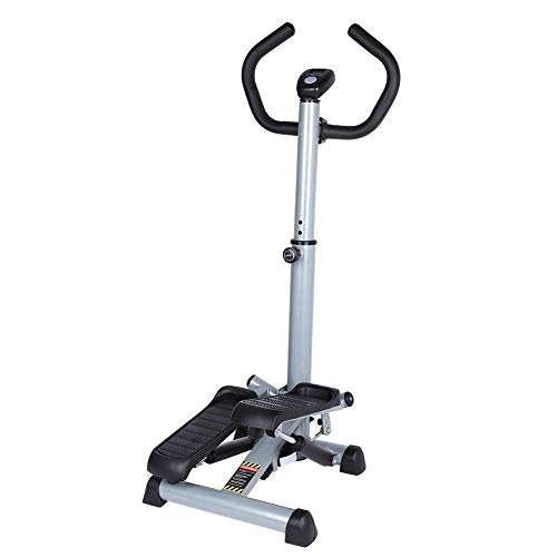 Ejoyous Twist Stepper, Folding Workout Step Machine for Exercise Adjustable Fitness Equipment with Handle Bar and LCD Display for Home Gym Office