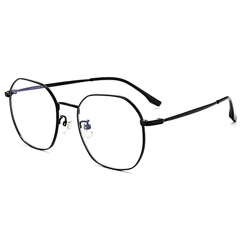 HQMGLASSES Gafas de Lectura de luz Anti-Azul progresivas Titanio Puro para Mujer, ultraligeras, Irregulares, con Montura Grande, Gafas con bisagras delicadas dioptrías +1,0 a +3,0,01,+2.5
