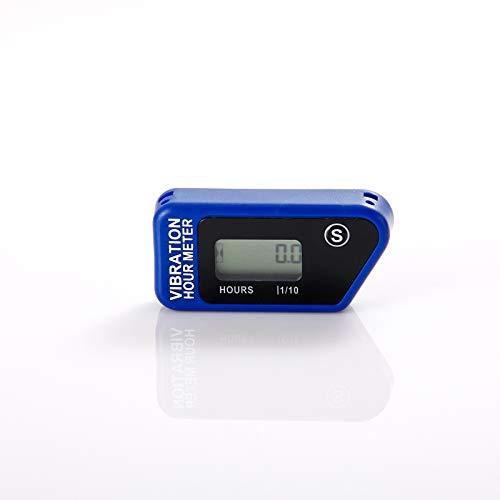 Jayron JR-HM016B Contador de Tiempo inalámbrico LCD,medidor de Horas Digital Vibrante, para Todas Las máquinas vibratorias,generador,cortacésped, Motocicleta,Motosierra y Otros Motores pequeño