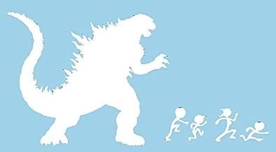Godzilla Chasing Stick Family White VINYL 6