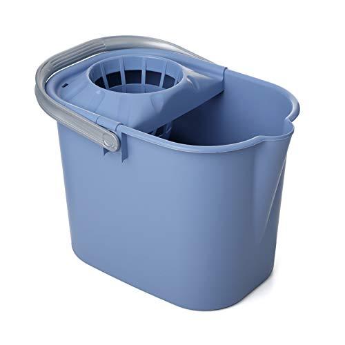 TATAY 1102800 - Cubo de Fregar Rectangular graduado con Escurridor y Asa, 12 litros de capacidad, Color Azul, Plástico polipropileno, 37 x...