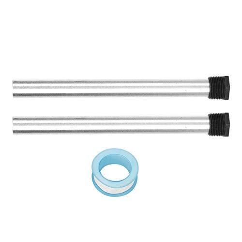 2 Stück 21X235mm Magnesium Anodenstab, Magnesium Flexibler Anodenstab, Warmwasserbereiter Magnesium Anodenstab, Magnesiumlegierung, für Warmwasserbereiter NPT3 / 4 Gewinde