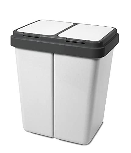Alpfa Müllbehälter 2 x 30 Liter Duo...