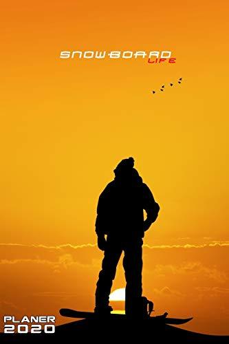SNOWBOARD LIFE PLANER 2020 MONATLICHER & WÖCHENTLICHER NOTIZBUCH KALENDER: 6x9 Zoll (ähnlich A5 Format) Organizer von DEZ 19 bis JAN 21 - ... Cover perfekte Geschenkidee Männer Frauen