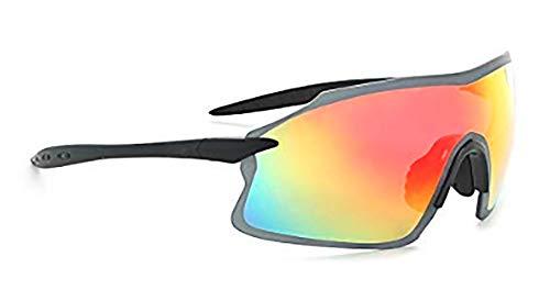 Optic Nerve, Fixie Pro, Unisex Sunglasses, Full Rimless Eyewear - Shiny Green Frame with Black Tips, Rose with Silver Flash Lens
