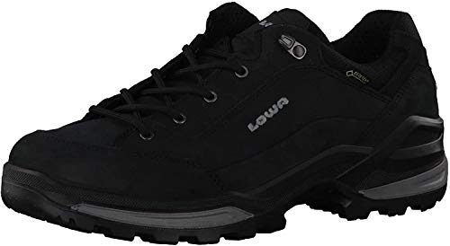 Lowa Mens Renegade Gore-Tex Lo Black Nubuck Trainers 43.5 EU