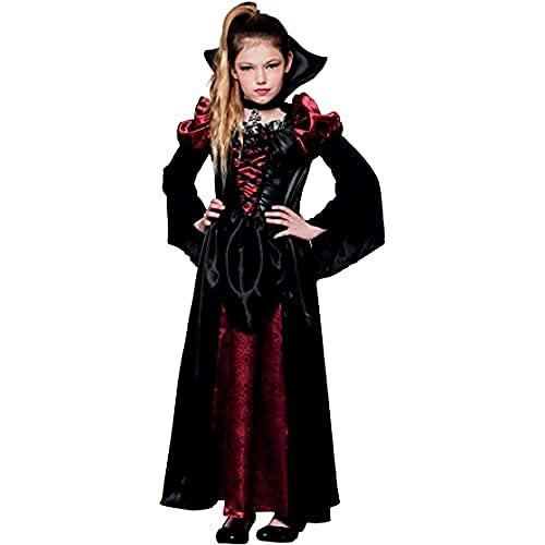 Boland - Kinder-Kostüm Vampir-Königin, verschiedene Größen, Kleid mit Halsband, Halloween, Kinderkostüm, Mottoparty