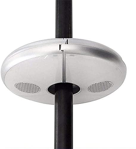 AWJ Luz de Poste de Paraguas, 7 Colores 48 Luces LED Luces de sombrilla Recargables de Emergencia, Luces de Carpa con Altavoz Bluetooth Inteligente para Acampar al Aire Libre, Blanco, para