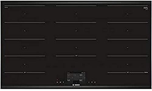 Bosch Serie 8 PXX975KW1E hobs Negro Integrado Con - Placa (Negro, Integrado, Con placa de inducción, Vidrio y cerámica, 2200 W, Rectangular)
