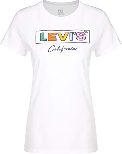 Levis Damen Logo T-Shirt White Rainbow M