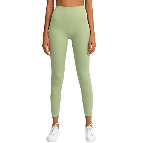 TXXT Leggings de yoga para mujer, cintura alta, pantalones de yoga, a prueba de sentadillas, fitness, gimnasio, atlético, leggings deportivos (color verde aguacate, tamaño: XXL)