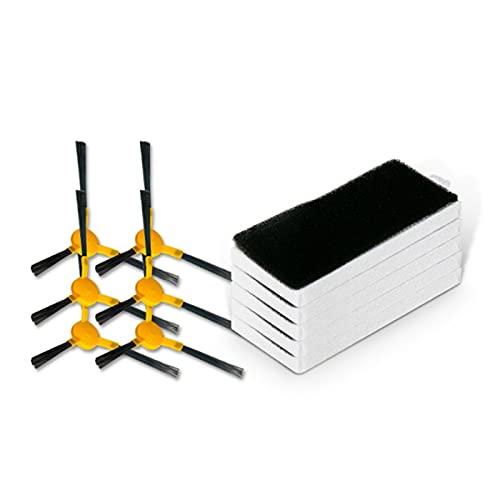 NONGFU Wangtao Store Roboter-Staubsauger Ersatzteile Seitenbürstenfilter Kompatibel für Haier M2 TAB-T710L TT53 Sauberer Zubehör (Color : White Yellow)