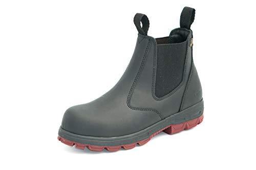 Australian Safety ENred Hobo Leder Boots mit Sicherheitskappe - Black (Numeric_44)