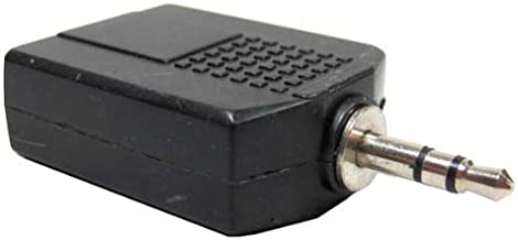 3.5mm Stereo Plug to two 1/4 Stereo Jack Adapter