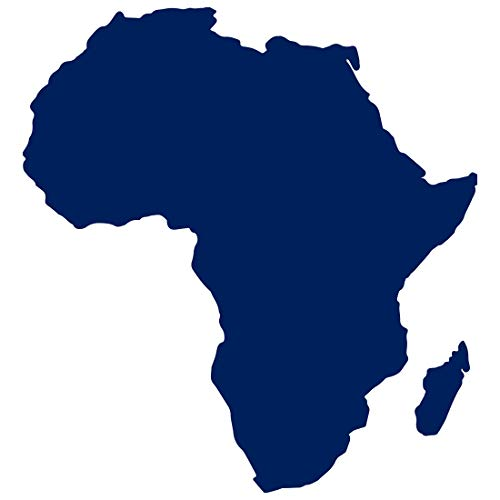 ANGDEST Africa MAP Silhouette (Navy Blue) (Set of 2) Premium Waterproof Vinyl Decal Stickers for Laptop Phone Accessory Helmet Car Window Bumper Mug Tuber Cup Door Wall Decoration