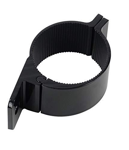 Universell passende schwarze Aluminium-Rohrschelle ø 75 bis 78mm für Lampenbügel, Frontbügel, Überrollbügel etc. 75-78 mm~