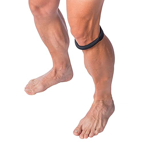 Cho-Pat Original Knee Strap, Patella Support for Runner's Knee, Osgood Schlatter's, and Chondromalacia, Recommended by Doctors to Reduce Knee Pain, Black, Large