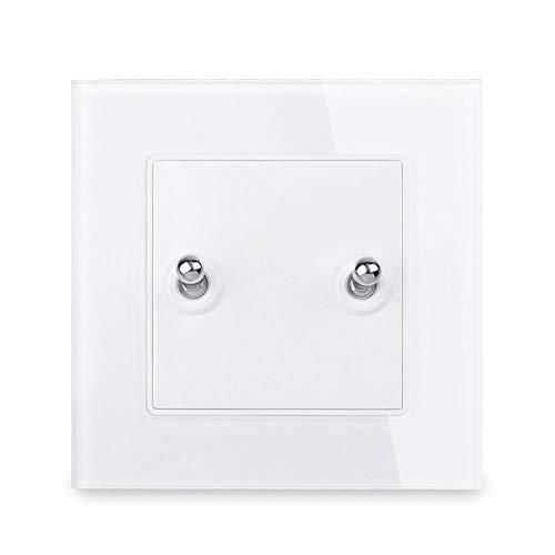 LifX Interruptor Pared De Palanca De Vidrio Templado Cristal Moda Simple Mejoras para El Hogar Interruptor De Palanca De 1 Vía Interruptor Luz De Encendido/Apagado Interruptor Pared 16A AC 250V