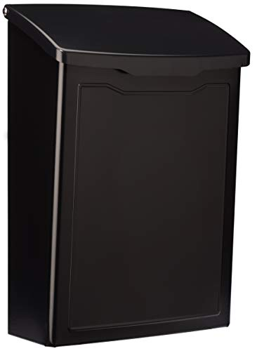 Architectural Mailboxes 2681B Black Marina Wall Mount Mailbox, Small