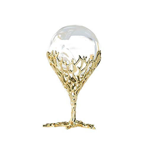 Adivinación con Bola de Cristal Nórdico de Cobre Puro de Soporte Cristal Blanco Bola Decoración for la decoración del hogar de la Bola, Mirar la Bola Telling adivinación O Feng Shui y la Fortuna Bola