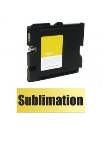 SUBLIMATION Druckerpatrone, Tintenpatrone wie Ricoh GC-41 yellow für Aficio SG 3100, snw, 3110 dn, dnw, n, SFNw, 3120 B SF, B SFN, B SFNw, 7100 dn mit Sublimationstinte befüllt