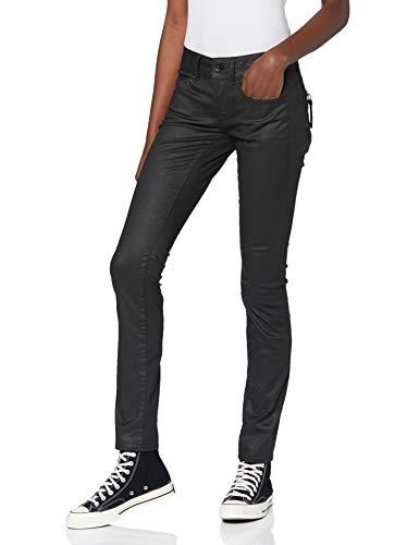 G-STAR RAW Damen Midge Cody Mid Waist Skinny Jeans, Schwarz (Rinsed D011-082), 28W / 32L