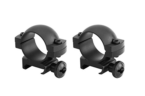 Monstrum Tactical Scope Ring Set for Picatinny/Weaver Rails | 1 inch Diameter | Low Profile