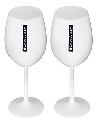 Scavi & Ray Glas Weiß / Opak 2 Stück