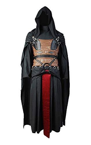 Darth Revan Traje de Cosplay Disfraz Negro Hombres XL