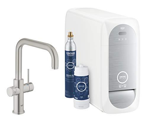 Grohe Blue Home Duo - 2-in-1 Trinkwassersystem und Küchenarmatur (gekühlt, gefiltert, mit Kohlensäure, U-Auslauf) 31456DC0
