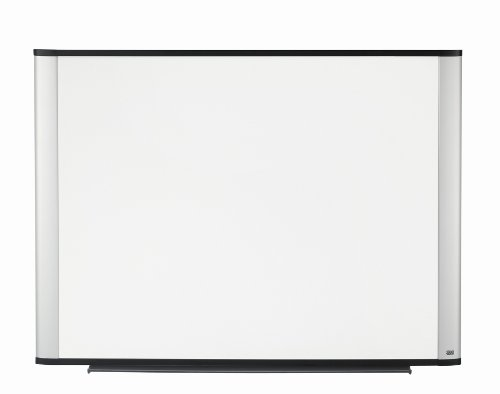 3M Porcelain Dry Erase Board, 96 x 48-Inches, Widescreen Aluminum Frame